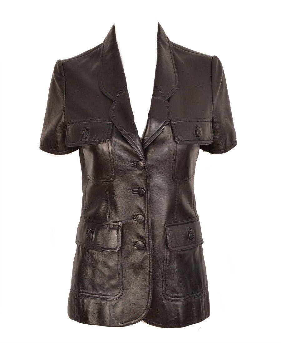 Chanel Lambskin Jacket At 1stdibs