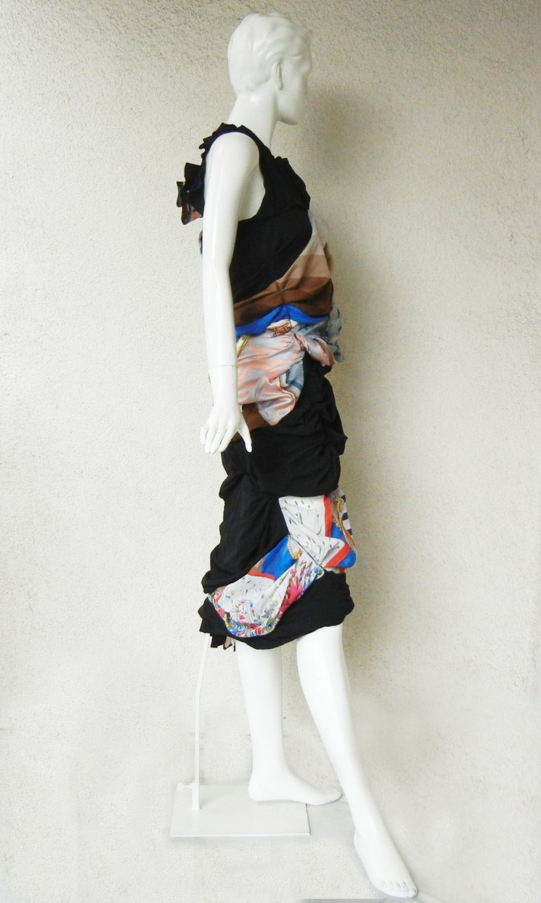 2011 Coveted Comme des Garcons Hybrid Vintage Scarf Dress 6