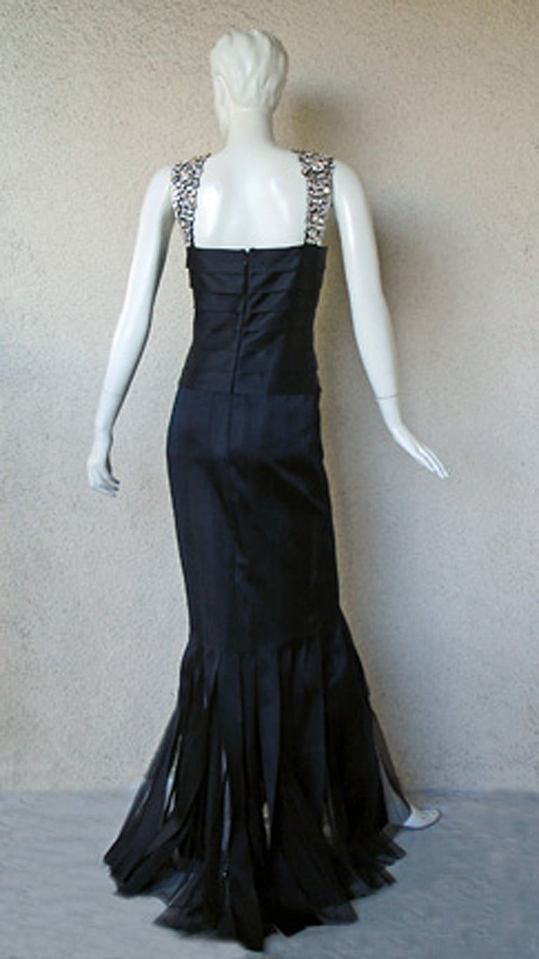 Women's  Chanel Runway Finale Jeweled Car Wash Gown Dress NEW  Featured in Introspective For Sale