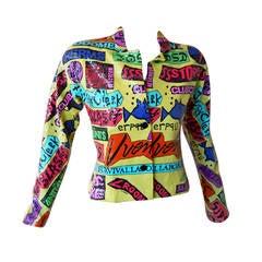 1988 Stephen Sprouse Rock Sticker Jacket from Club & Punk Rock 80's Scene