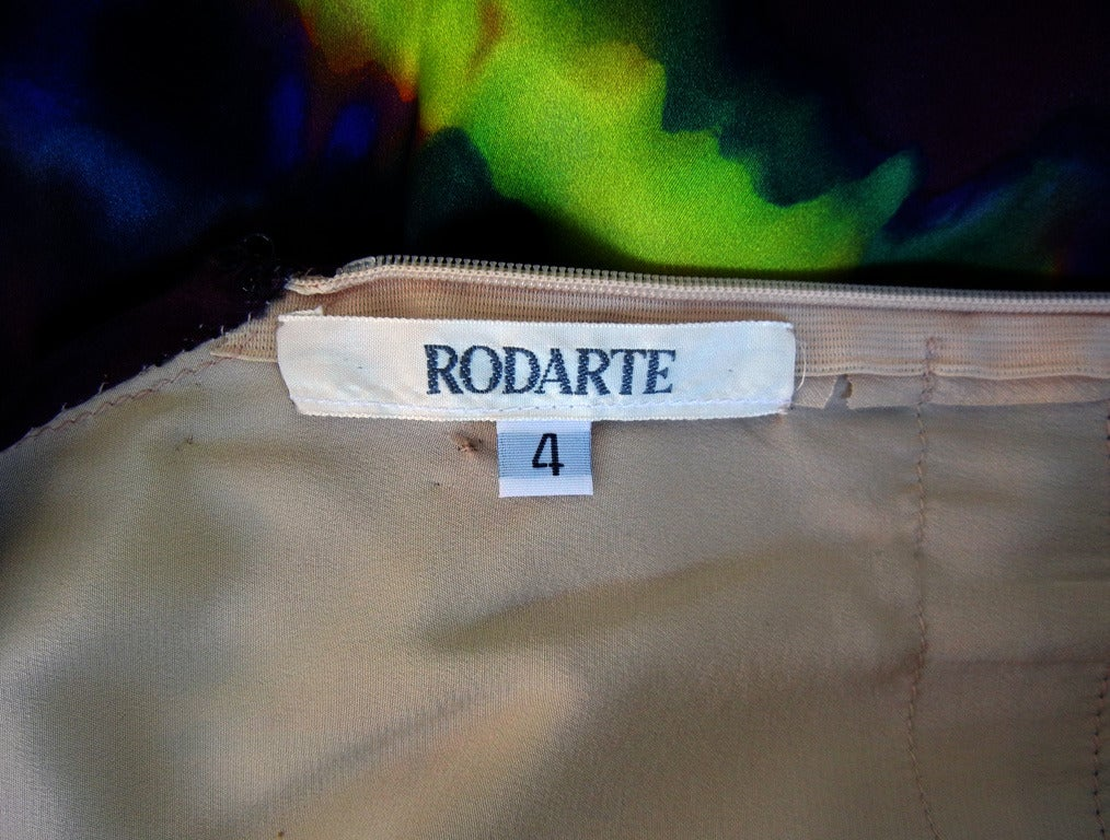 Rodarte Homage to 1960's Tie-Dye Maxi Dress Neoprene Collar   For Sale 2