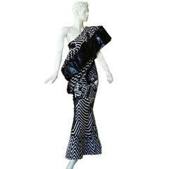 "Christian Dior by John Galliano Asian Kabuki ""Elvira"" Runway Gown - rare museum"