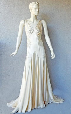 Rochas 1930's Inspired Harlowesque Bias Cut Dress Gown  New!