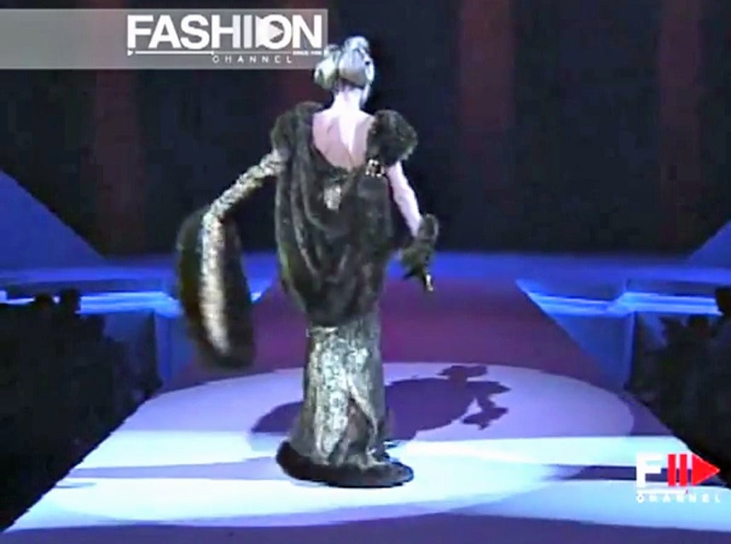 Thierry Mugler A/W 1997-1998 Paris Haute Couture Medieval Runway Gown Rare! For Sale 2