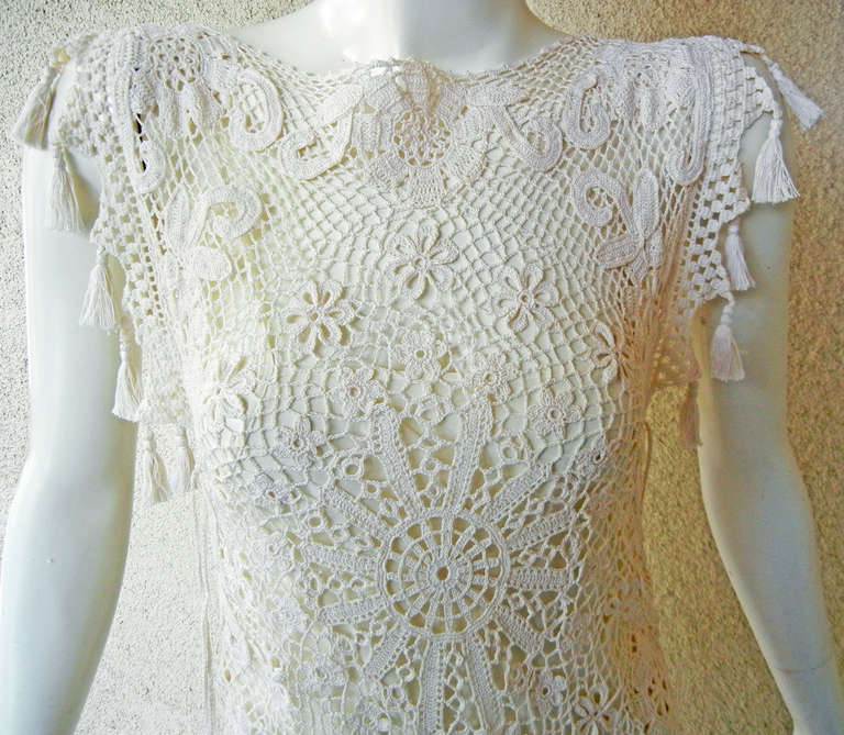 Jean paul gaultier wedding inspired crochet dress for sale for Crochet wedding dresses for sale