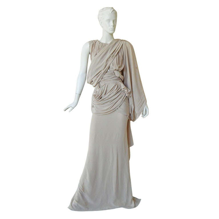 House of Vionnet Iconic Classic Grecian Wrap Gown For Sale