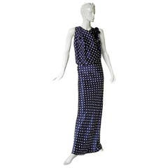 Luxe Lanvin 1930's Inspired Polkadot Dress Gown