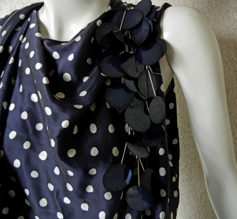 Elegant Lanvin Fine 1930's Inspired Polkadot Dress Gown 3