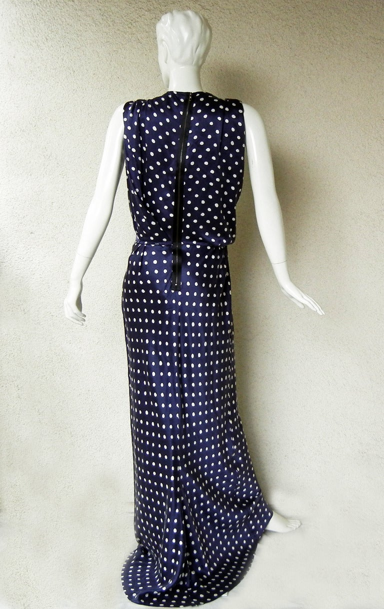 Elegant Lanvin Fine 1930's Inspired Polkadot Dress Gown 5
