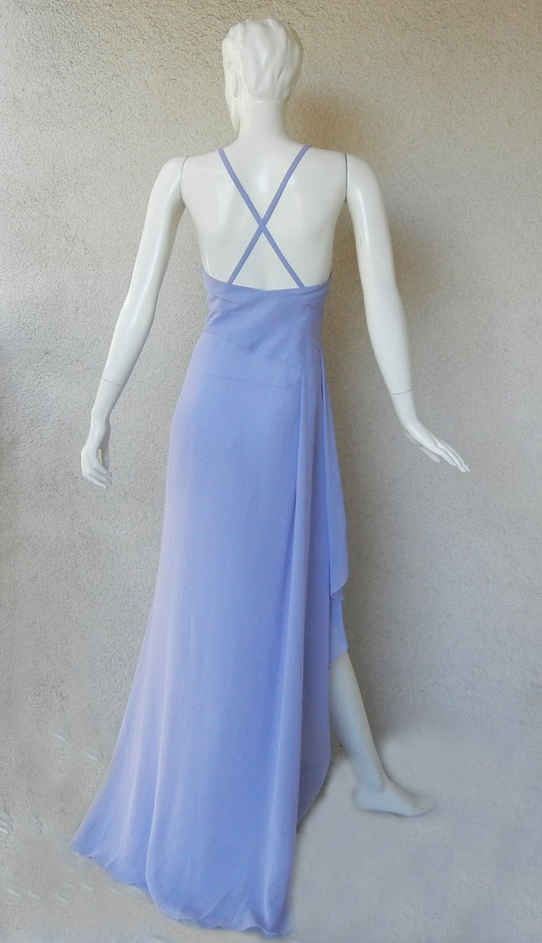 "Lovely Lilac Versace ""Alice in Wonderland"" Silk Gown 4"