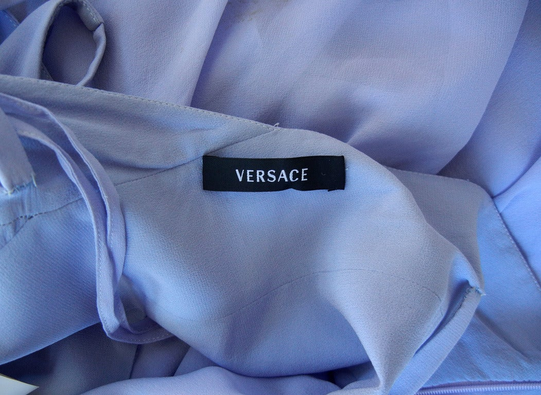"Lovely Lilac Versace ""Alice in Wonderland"" Silk Gown 5"