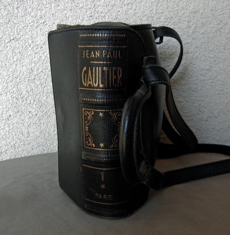 Rare Vintage Jean Paul Gaultier Book Leather Back Pack Handbag 2