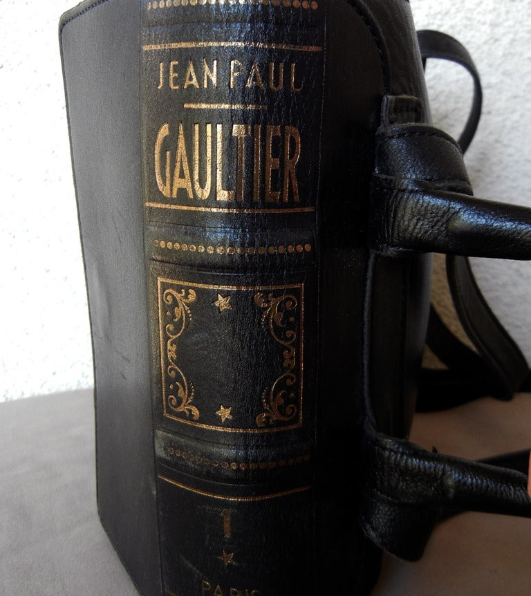 Rare Vintage Jean Paul Gaultier Book Leather Back Pack Handbag 3