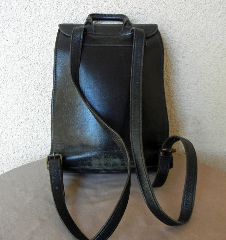 Rare Vintage Jean Paul Gaultier Book Leather Back Pack Handbag 5
