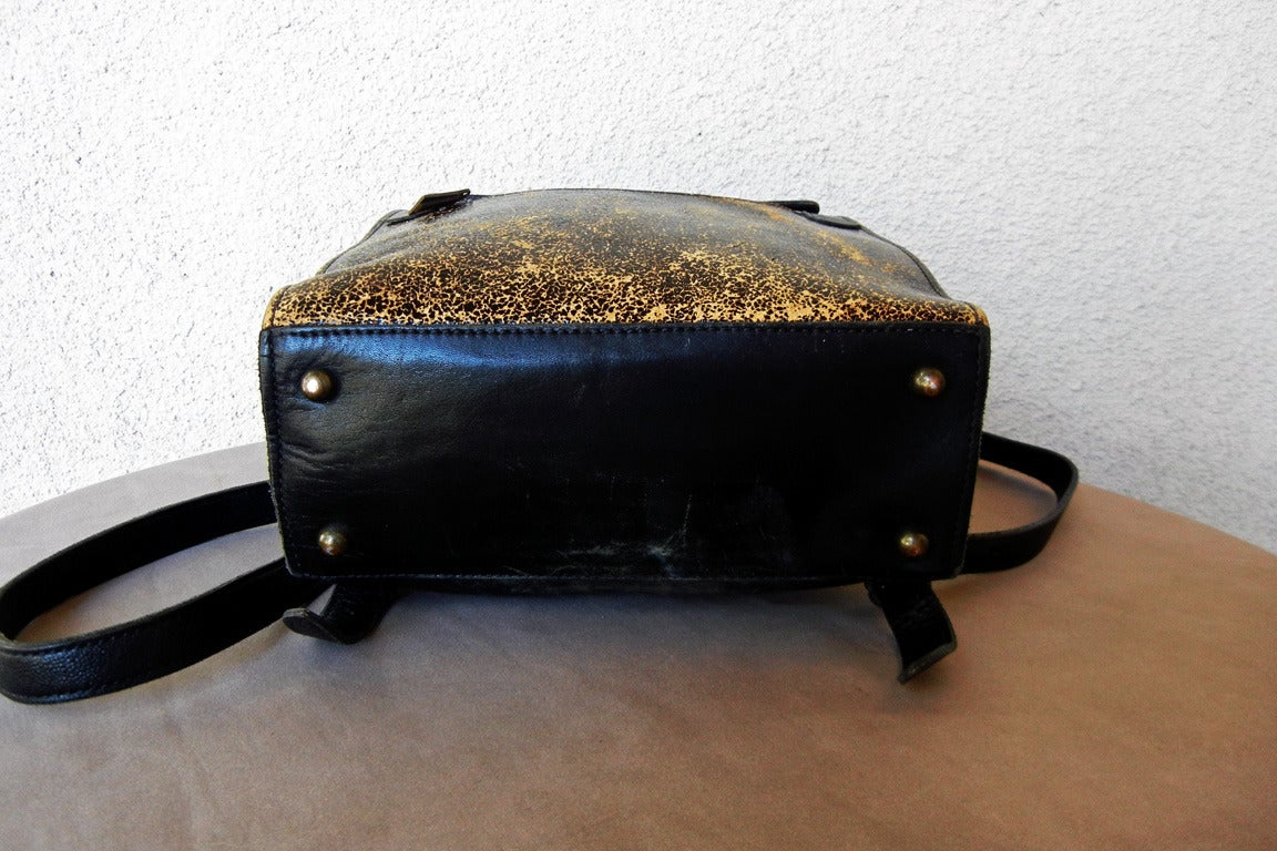 Rare Vintage Jean Paul Gaultier Book Leather Back Pack Handbag 7