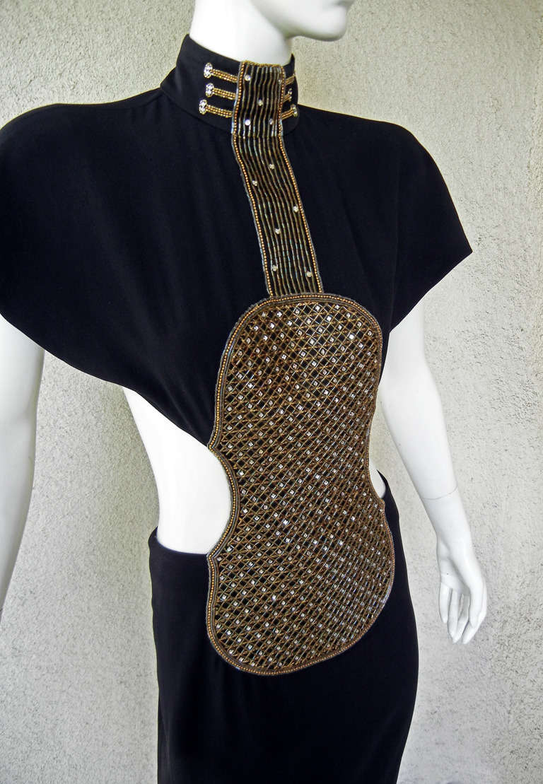 Chloe Violin Dress Documented Limited Edition by Karl Lagerfeld/Chanel In New Condition For Sale In Los Angeles, CA