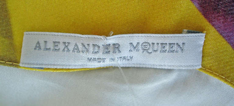 Alexander McQueen 2009 Futuristic Print Sheath Dress -new For Sale 2