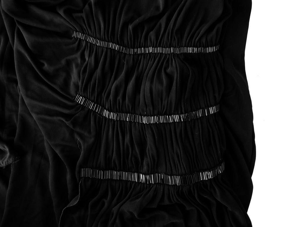 Black Jean Paul Gaultier One Shoulder Sexy & Sophisticated Thigh Hi Slit For Sale