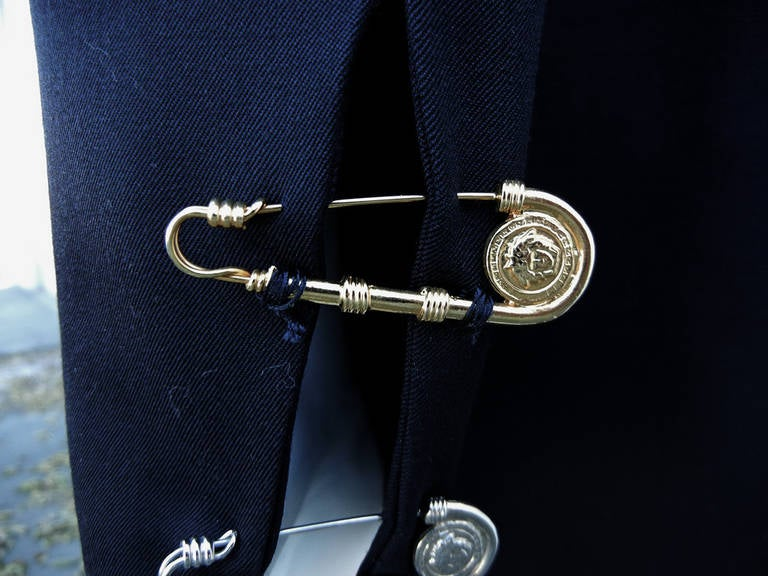 Rare Iconic 1994 Gianni Versace Men's Safety Pin Suit For Sale 2