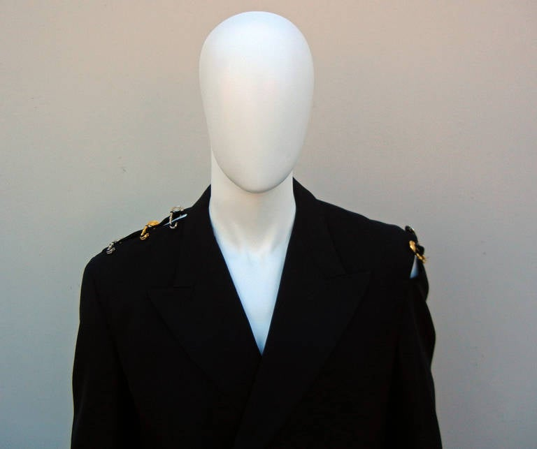 Rare Iconic 1994 Gianni Versace Men's Safety Pin Suit For Sale 4