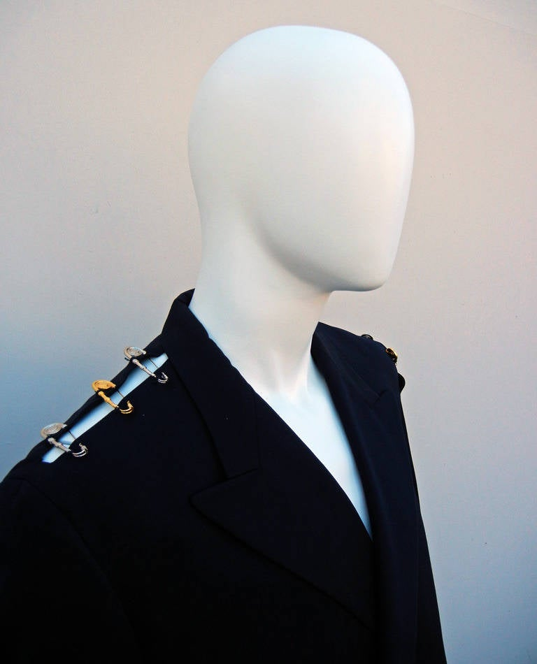 Rare Iconic 1994 Gianni Versace Men's Safety Pin Suit For Sale 5