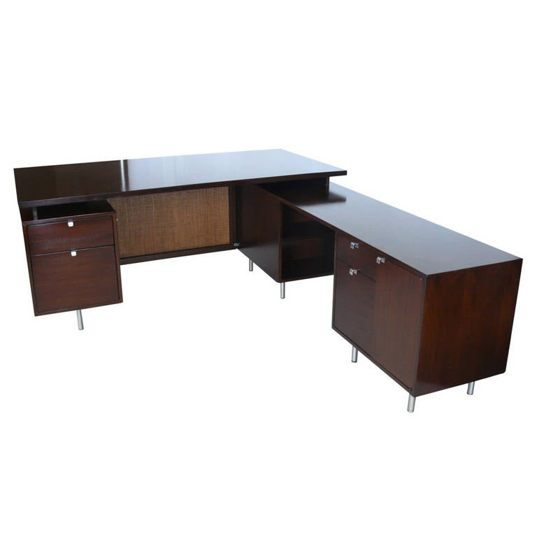 George Nelson Desk With Return At 1stdibs