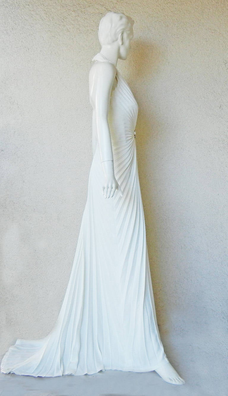 Thierry Mugler Iconic Old Hollywood 1930's Inspired Dress Gown In New Never_worn Condition For Sale In Los Angeles, CA