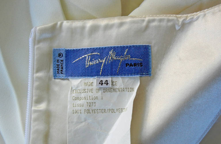 Thierry Mugler Iconic Old Hollywood 1930's Inspired Dress Gown For Sale 1