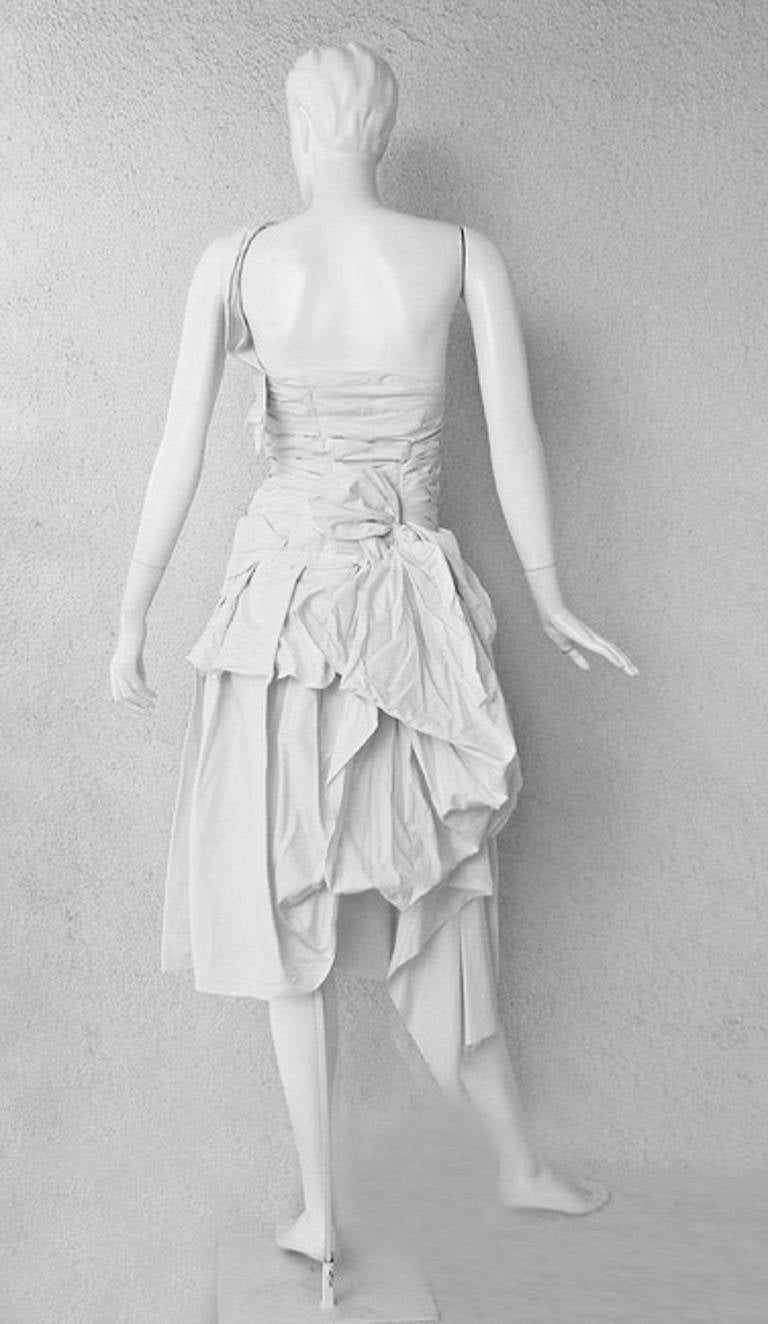 2006 S/S Comme des Garcons Bustle Dress with Westwood Victorian Flair 2