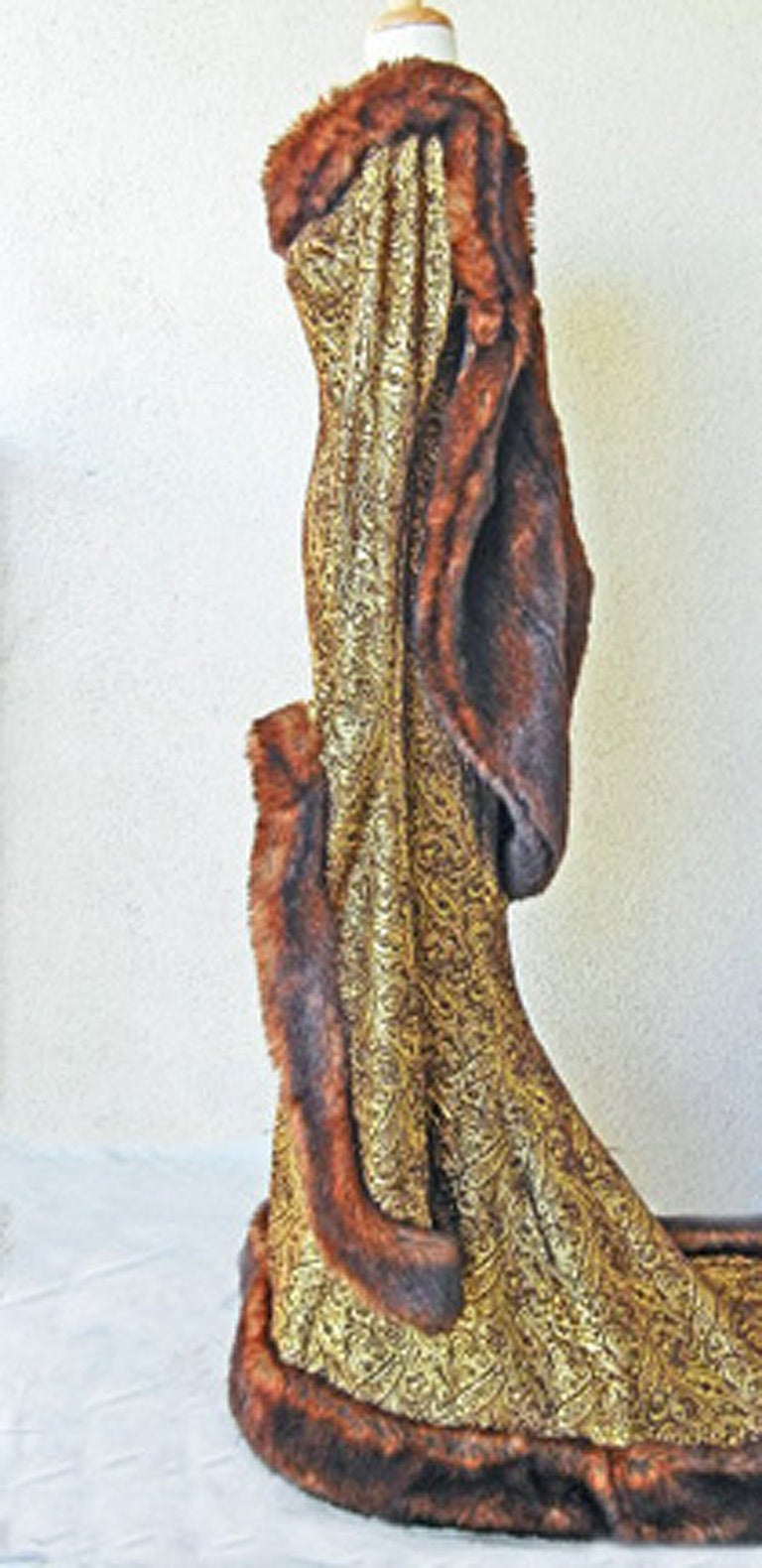 Brown  Thierry Mugler A/W 1997-1998 Paris Haute Couture Medieval Runway Gown Rare! For Sale