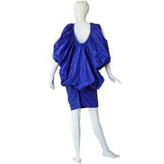 Tom Ford Paraschute Cobalt Blue Taffeta Silk Evening Dress