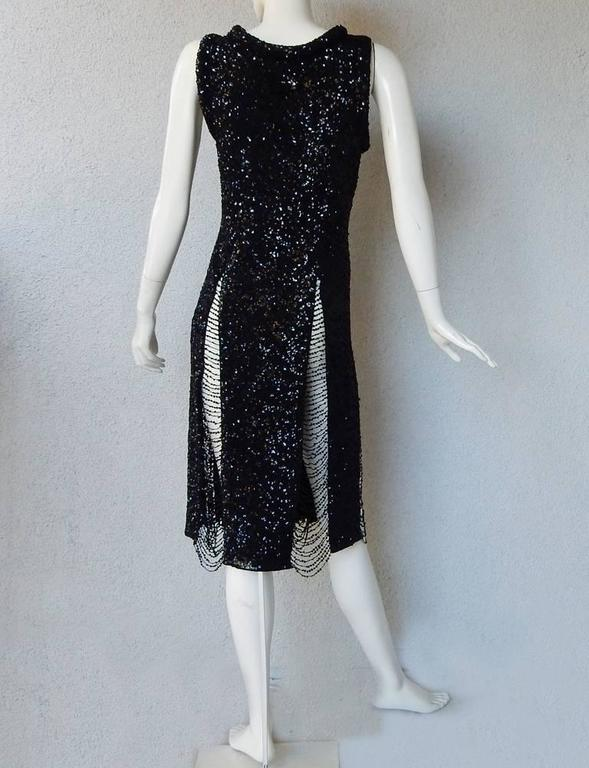 Jean Paul Gaultier Xtra Thigh High Sequin Body Hugging Evening Dress In New Never_worn Condition For Sale In Los Angeles, CA