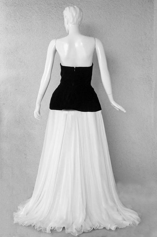 Alexander McQueen 2009 Black & White Gown in the Style of Charles James  4