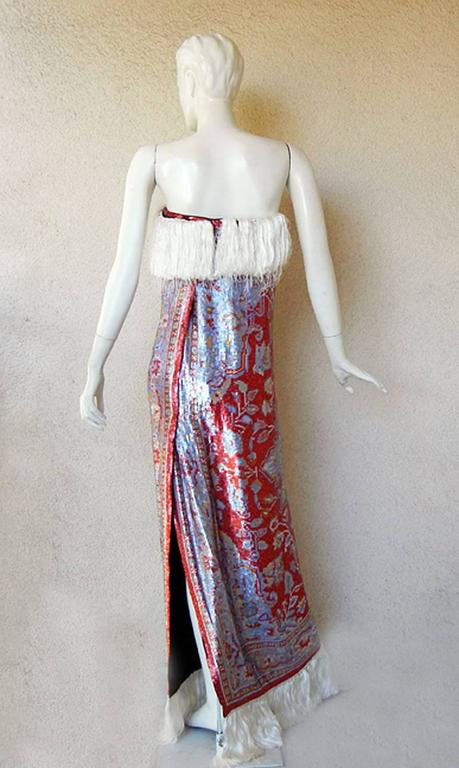 Maison Margiela Rare Beaded Tapestry Runway Dress Gown   New Cond! In New Condition For Sale In Los Angeles, CA