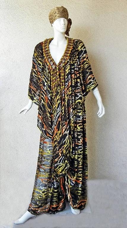 Circa 1970's Paco Rabanne Haute Couture Jeweled Dress Caftan Collectors, Museum 2