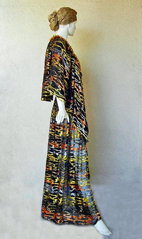 Circa 1970's Paco Rabanne Haute Couture Jeweled Dress Caftan Collectors, Museum 3