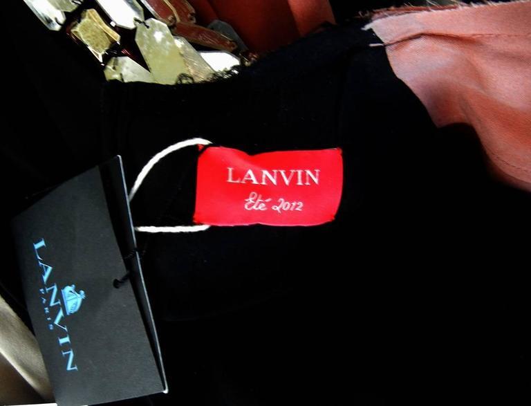 Lanvin J-Lo Jeweled Serpent Colorblock Dress For Sale 1
