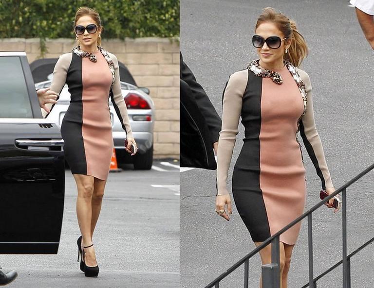 Lanvin J-Lo Jeweled Serpent Colorblock Dress For Sale 2