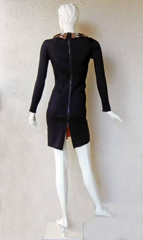 Women's Lanvin J-Lo Jeweled Serpent Colorblock Dress For Sale