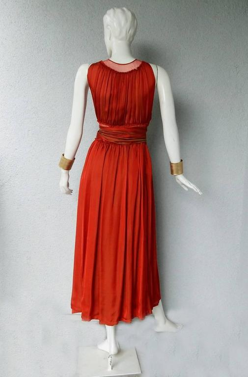 Jean Paul Gaultier Diaphanous Cayenne Silk Obi Belt Maxi Dress For Sale 1