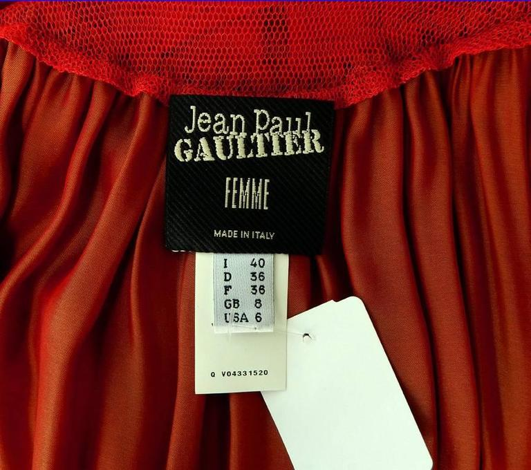 Jean Paul Gaultier Diaphanous Cayenne Silk Obi Belt Maxi Dress For Sale 2