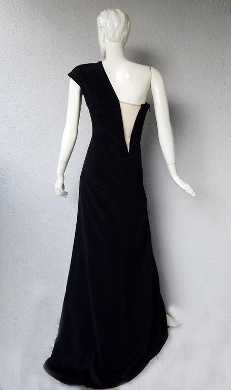 Women's or Men's KaufmanFranco Asymmetric One Shoulder Sculptural Gown Runway  New For Sale