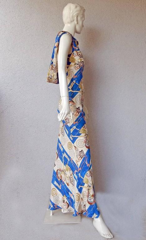 Women's or Men's 1990's Christian Dior by John Galliano Asymmetric Scarf Dress For Sale