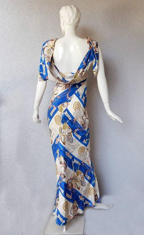 1990's Christian Dior by John Galliano Asymmetric Scarf Dress For Sale 1