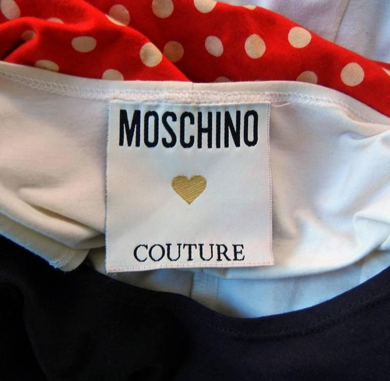 Franco Moschino Couture Folk Art Tunic Top w/Earrings, Eyelashes, & Eyebrows  For Sale 2