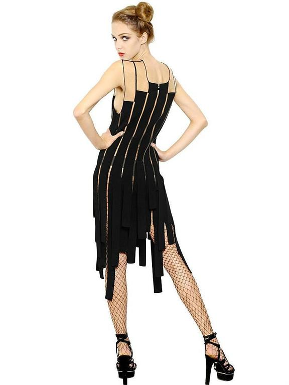 Jean Paul Gaultier Racy Ribbon Body Hugging Dress   New! In New Condition For Sale In Los Angeles, CA