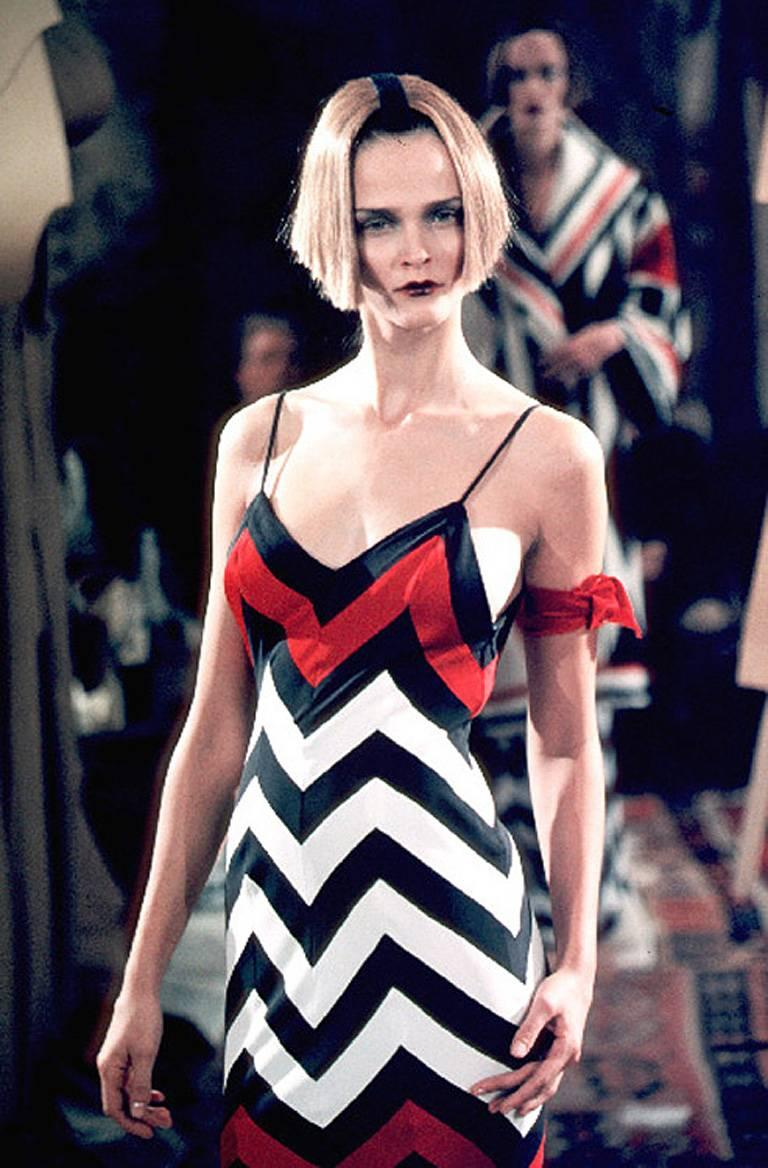Women's Christian Dior Chevron Pattern Evening Ensemble Inspired by 1950 Dior Collection For Sale
