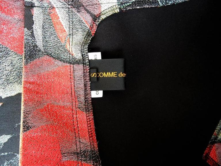 Women's Comme des Garcons Tri-Dimensional Floral Pattern Flat Dress For Sale