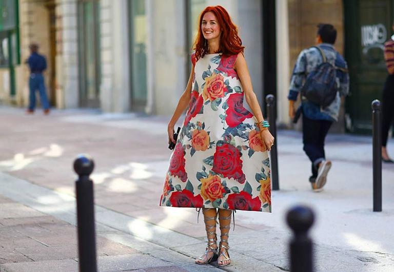 Comme des Garcons Tri-Dimensional Floral Pattern Flat Dress For Sale 1