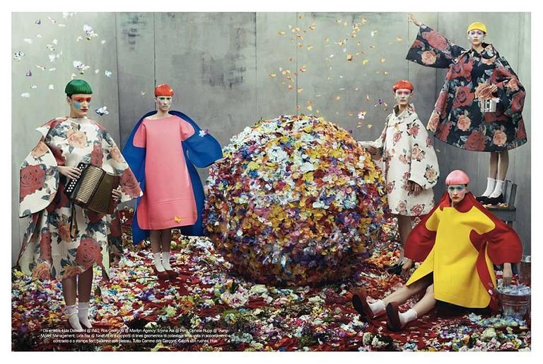 Comme des Garcons Tri-Dimensional Floral Pattern Flat Dress For Sale 2